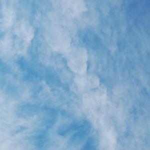 雲も少しずつ表情を変える(巻雲)