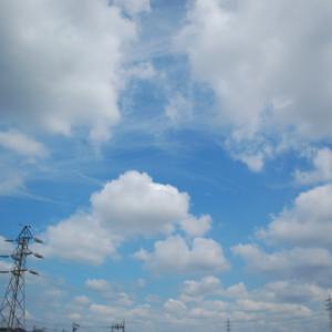 梅雨の晴れ間、蒸し暑い日(積雲)