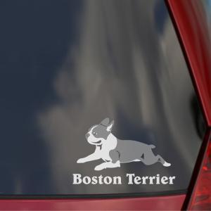 ボストンテリアのステッカー