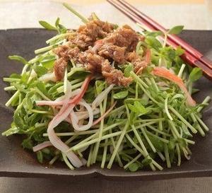 豆苗とツナの中華サラダ