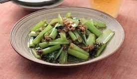 小松菜と挽き肉の香り煮