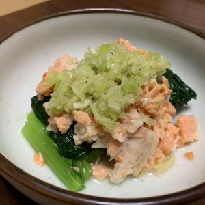 「鶏もも肉とピーマンの甘辛炒め」 「小松菜と鮭のねぎ塩だれ」など・・・5月27日 夜メシ
