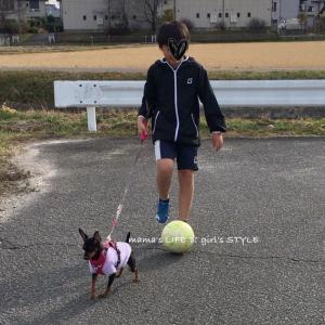 リフティング散歩♡