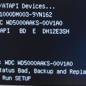 おいらのPC(asus CM6870) データ用増設ドライブ異常