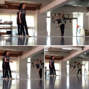 バレエのリハに今年も~谷バレエ団の先生が