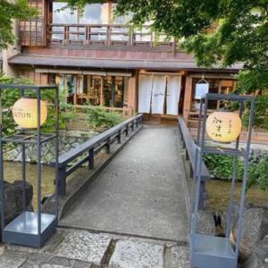 京都のかき氷 「お茶と酒 たすき」