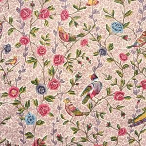 花と鳥の新作トワルドジュイで着物風コーディネート♪