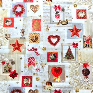 クリスマス用品制作に。ヨーロッパ布&リボン