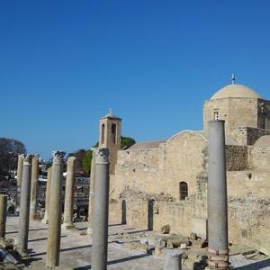 キプロス紀行 ~ キリヤキ教会の列柱。