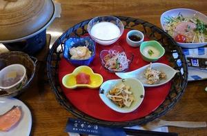 小鹿野ワーケーションツアーリポート ~ 宮本の湯の朝食(02月18日)。