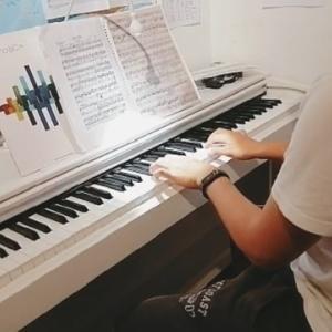 朝バリレッスンと息子のピアノ発表会の録画!