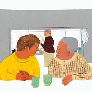 挿し絵の仕事 新聞連載 「未踏の老いを生きる 05」
