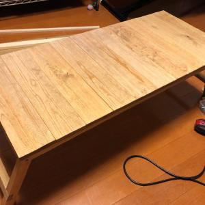 【キャンプ道具自作】テキーラレッグが重くなったので、折りたたみキャンプテーブルを作ってみた