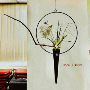 釣りの立花、ヒノキの長枝添え。そして、これからのこと【いけばな池坊】