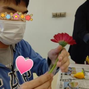 自閉っ子・駿平☆久々のフラワーアレンジメント講座♪
