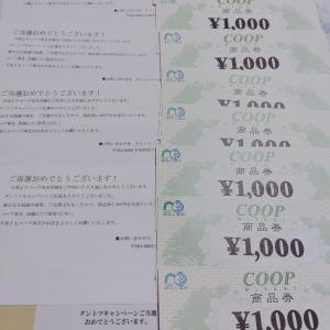 懸賞当選♪co-opの商品券がなんとっ!!