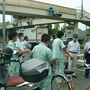 交通安全対策で、警察の現地調査を行いました。