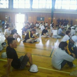 石渡区の自主防災会訓練に参加