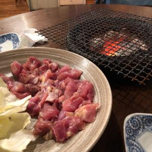 炭火焼の鶏