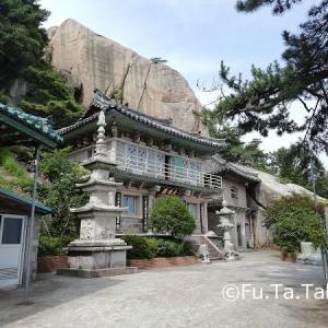 梅雨の釜山6.屏風岩石仏寺は石のお寺。