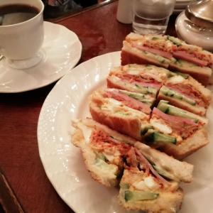 珈琲館 ロックヴィラさんのキムチサンドイッチ♪