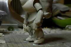 重装甲スネークアイ  足の工作