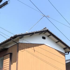 屋根の上のアンテナが倒れかかってしまったら・・・