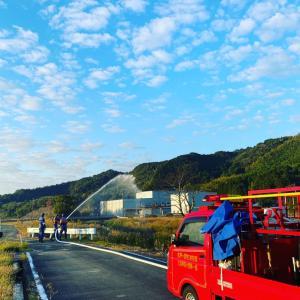 秋の消防団訓練