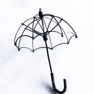 結束線の傘