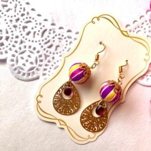 【手芸全般】黄色と紫の巻き玉