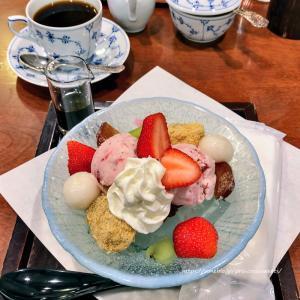 苺あんみつ♡椿屋カフェ