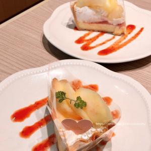 白桃とマスカルポーネチーズのタルト♡ラ・メゾンアンソレイユターブル