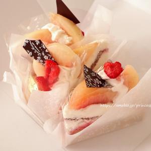 白桃と黄金桃の練乳ティラミスタルト♡ラ・メゾンアンソレイユターブル