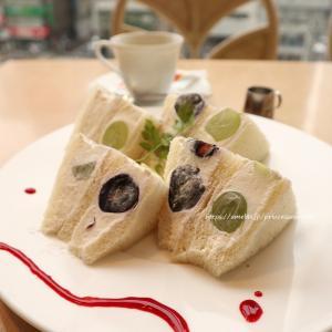 ぶどうのフルーツサンドイッチ♡京橋千疋屋