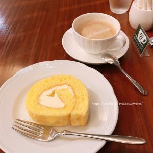 みるく珈琲とロールケーキ♡茶豆珈琲