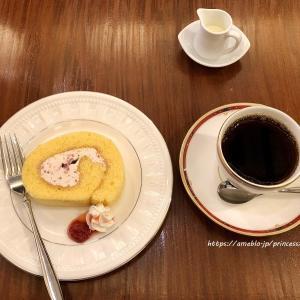苺のロールケーキ♡茶豆珈琲