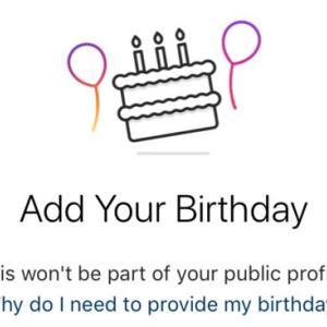 Instagram、新規ユーザー登録で生年月日入力が必須に