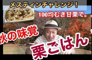 メスティンチャレンジ【100均むき甘栗で栗ごはん】