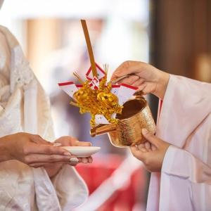 今日は神前結婚記念日