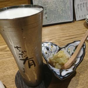 ちゃぶ有のカウンターで富山の秋のうまい物三昧