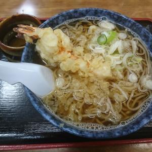 東京亭城川原店で天ぷらそばをたしなむ
