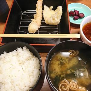 天ぷら七福のお好み定食は揚げたて天ぷらが次々出てくる