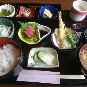 初めて訪れた山美で日本料理の御膳を楽しむ