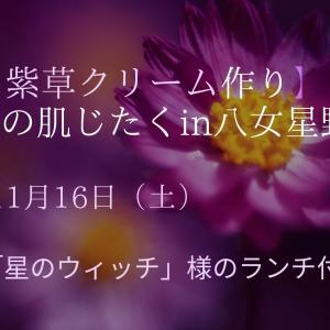 【講座のお知らせ】和方紫草クリーム作り と 冬の肌じたくin八女星野村[ランチ付き]