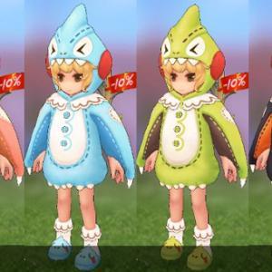 【ラグマス】「パジャマ怪獣」の衣装は立ちモーションが可愛いです(*ノωノ) アニメーション画像も作りました。 @きぃ