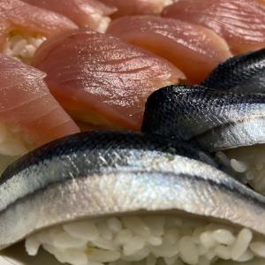 秋刀魚の生寿司☆母作
