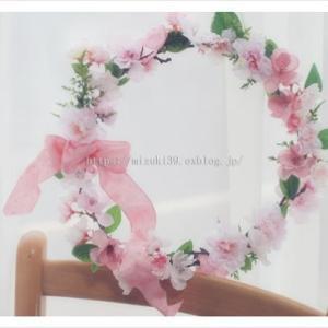 桜色のリース