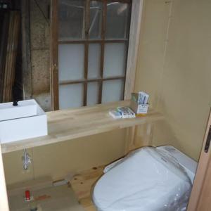 水周り進捗状況 トイレ