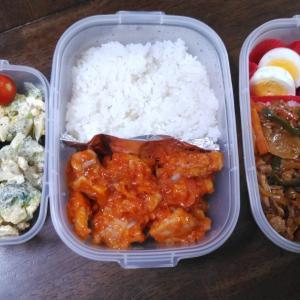 鶏チリと豚肉と野菜の麻婆炒めのお弁当