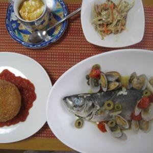 子供教室もお魚料理